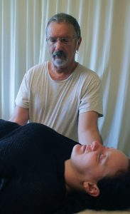Upledger Craniosacral Therapy: working on the dural tube (spinal canal).